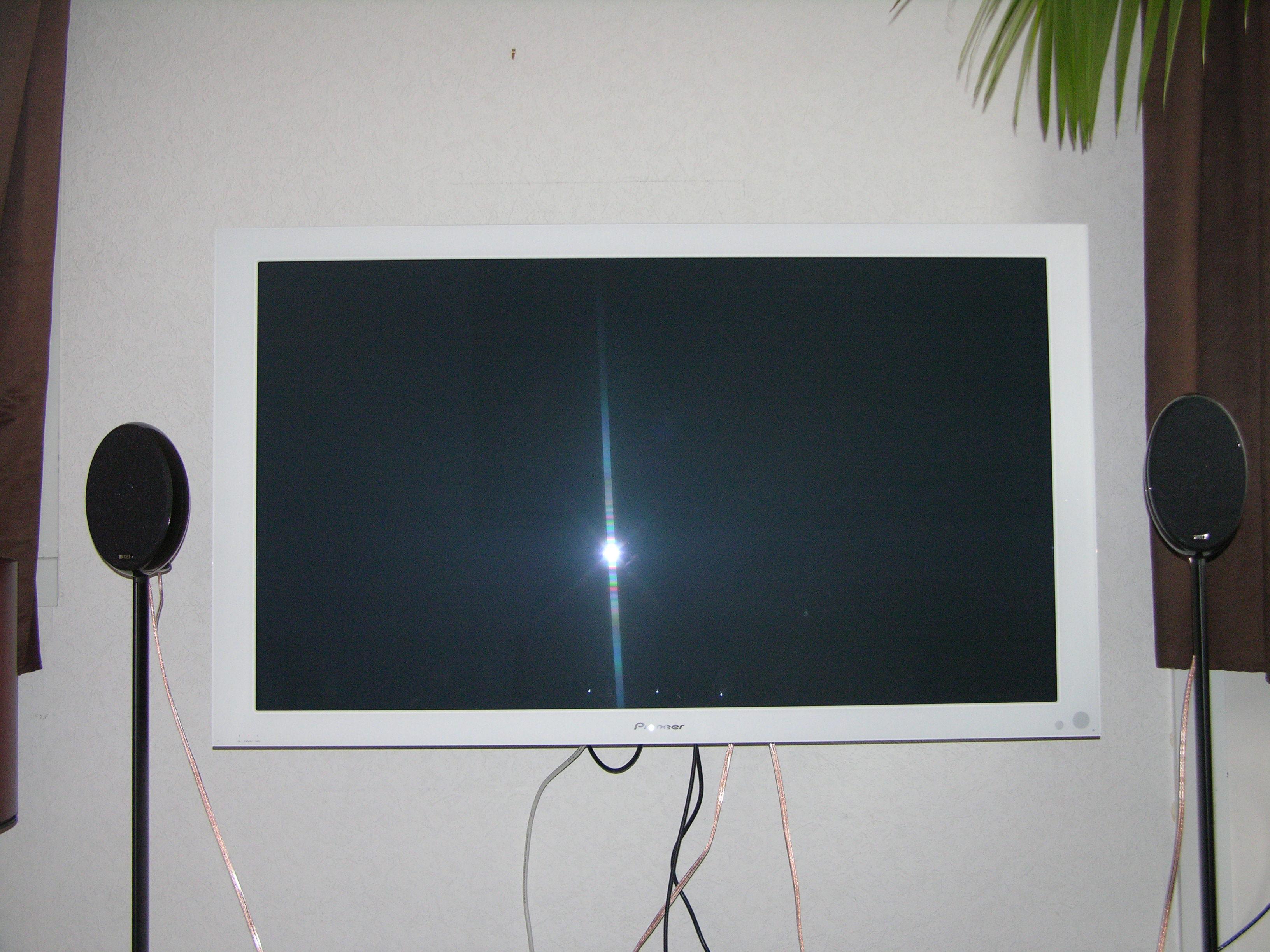 Installer sa tv au mur conseils astuces et photos - Cacher fils electriques mur ...